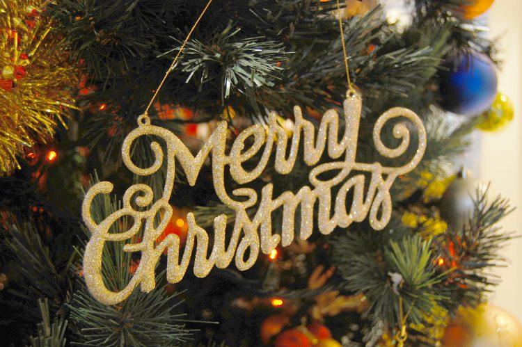 メリークリスマスの装飾01 フリー素材ドットコム