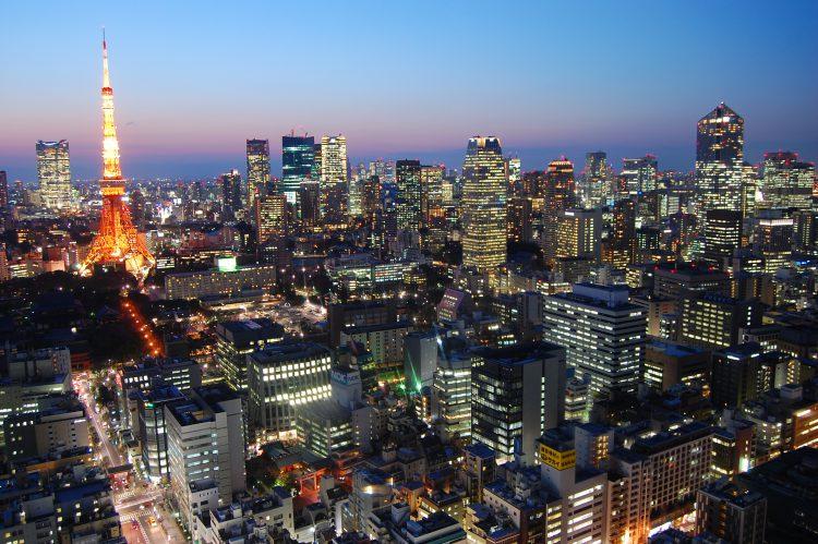 東京の夕暮れ・夜景・東京タワー2 | フリー素材ドットコム
