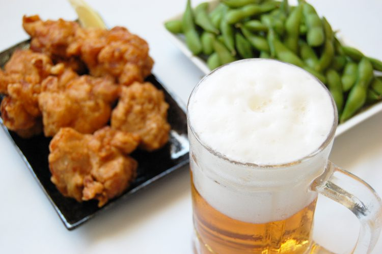 ビール(おつまみ付) | フリー素材ドットコム